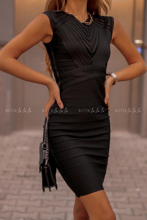 Sukienka Bandażowa Czarna Elvero