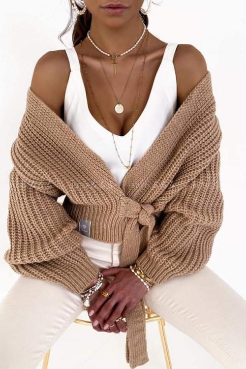 sweterek camelowy Andie
