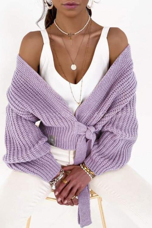 sweterek wrzosowy Andie