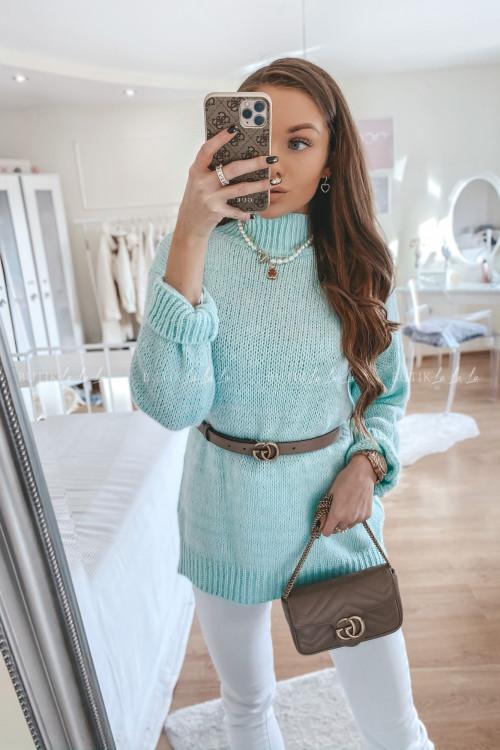 sweterek miętowy Mili