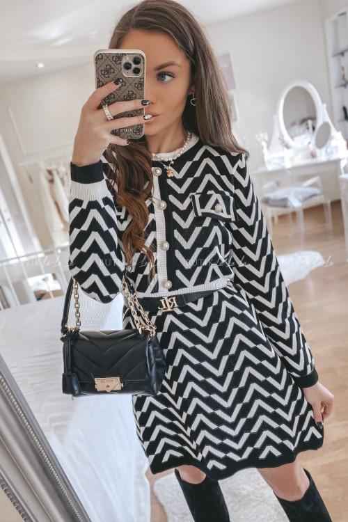 sukienka czarno biała Slevv