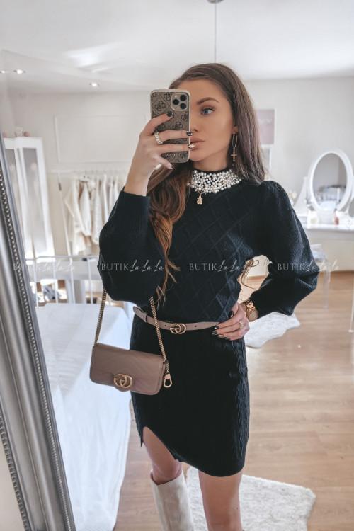 spódniczka sweterkowa czarna Bueno 1