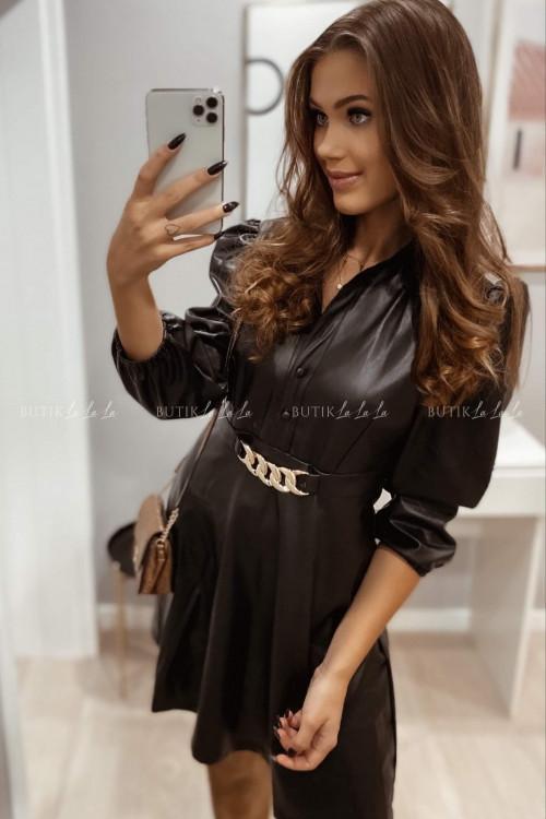 sukienka czarna z łańcuszkiem Pro