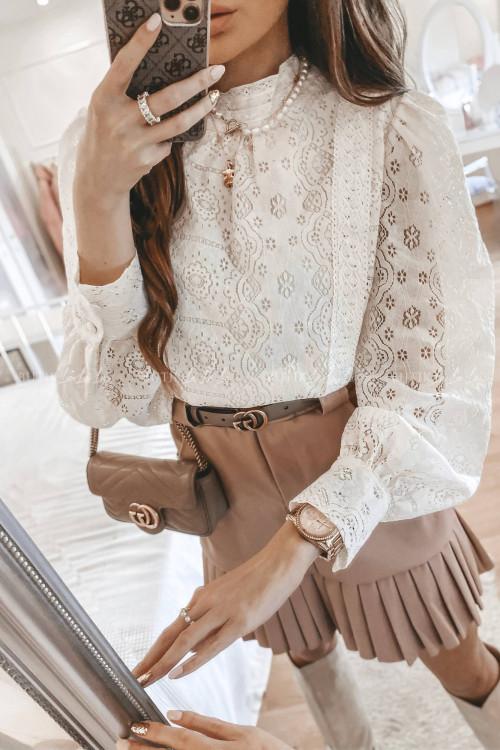 bluzka koronkowa kremowa Tiara