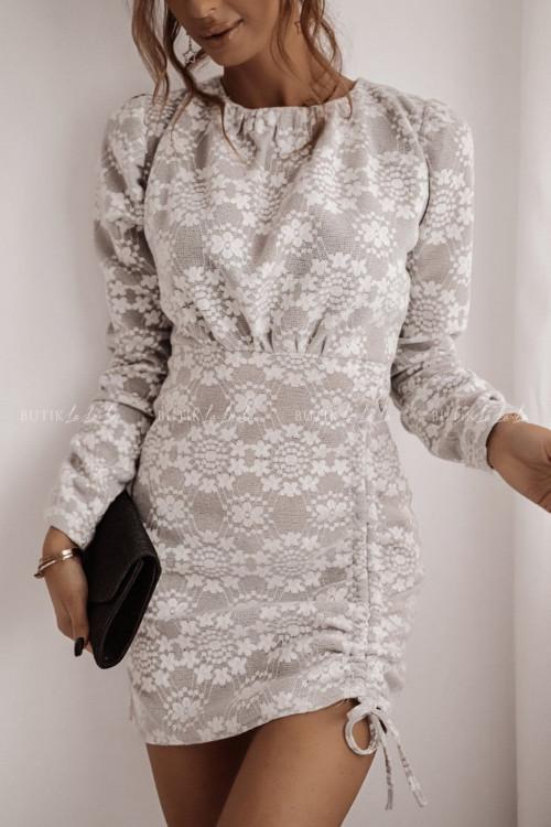 sukienka szaro biała Sevilla