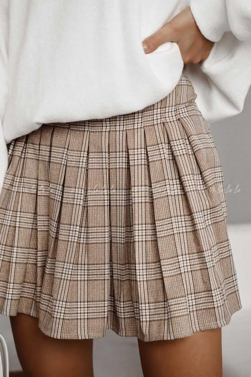 spódniczka plisowana w kratę Passi