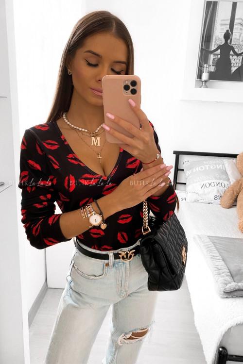 Body czarne w usta Vogue