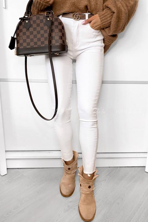 spodnie białe z wysokim stanem Riperd