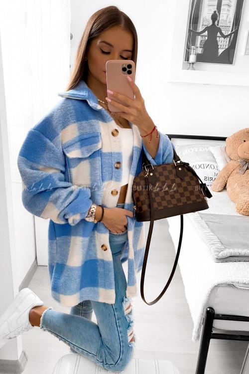 Koszula krata niebieska Settin