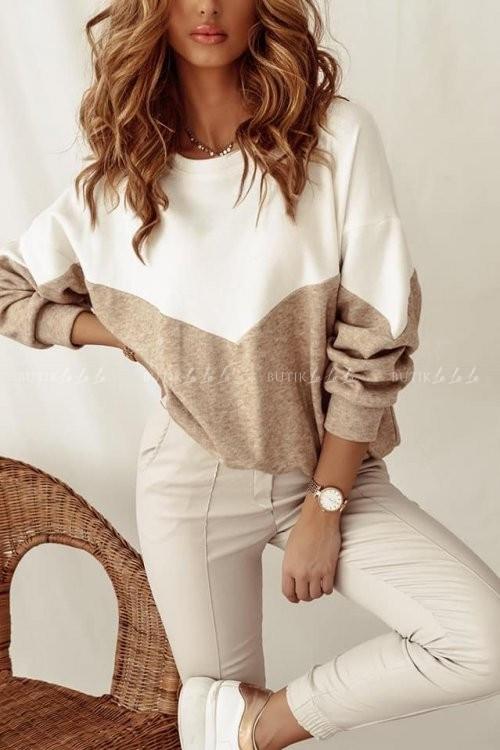 bluza sweterkowa kremowo-beżowa Parisa