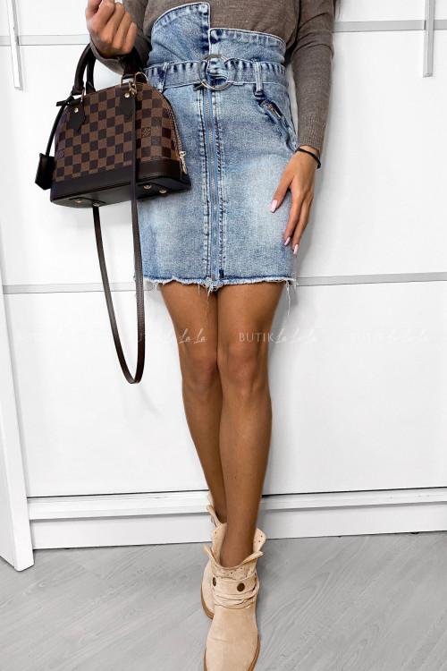 Spódniczka jeans z suwakiem Riss