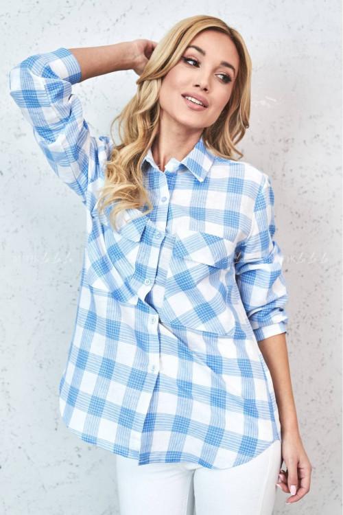 Koszula niebiesko-biała Nady