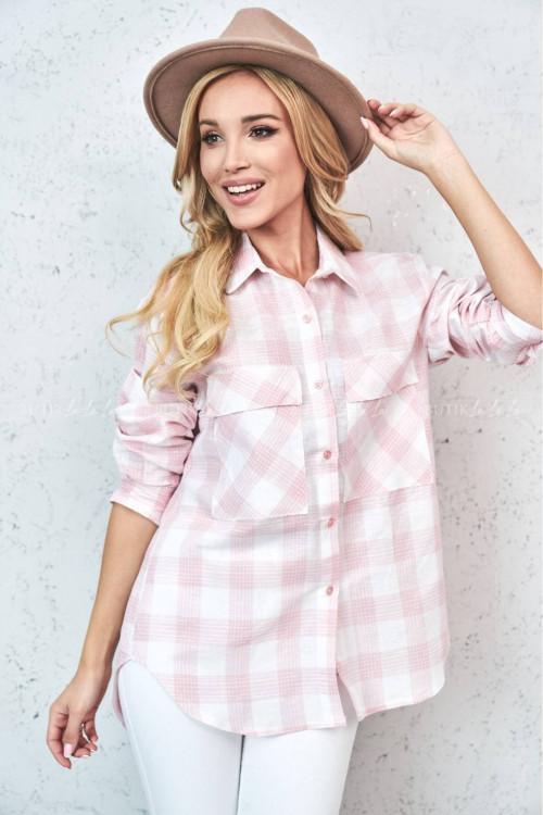 Koszula różowo-biała Nady