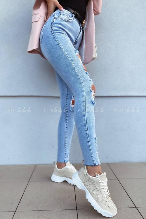 Spodnie jeans blue z przetarciami Vanti 2
