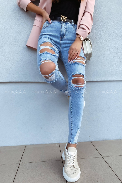 Spodnie jeans blue z przetarciami Vanti 1