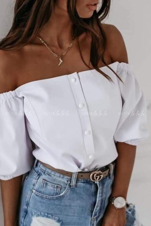 bluzka hiszpanka biała Assiana