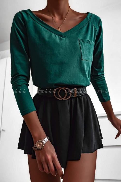 Bluzka zielona z kieszonką Lucia