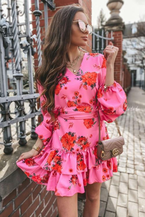sukienka w róże Zoa