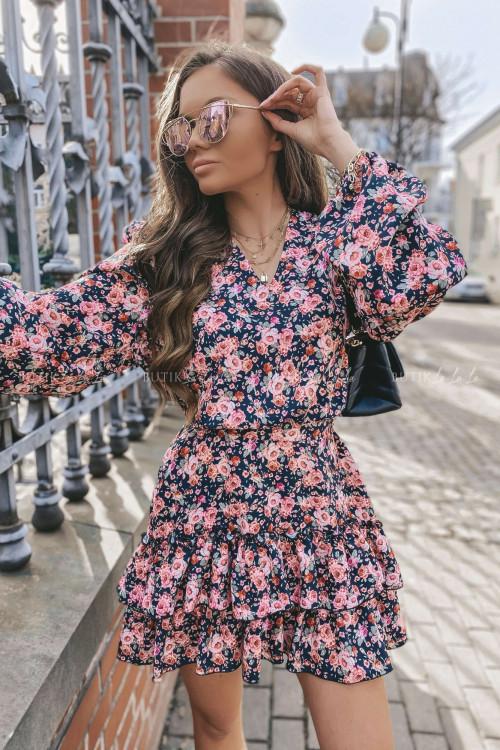 sukienka w kwiatkowy print Kasandra