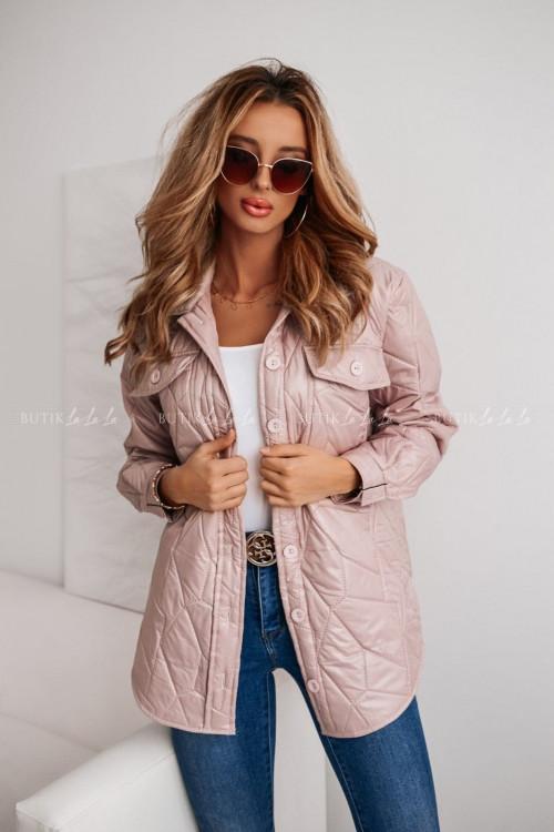 kurtka pudrowa pikowana z kieszeniami Aris