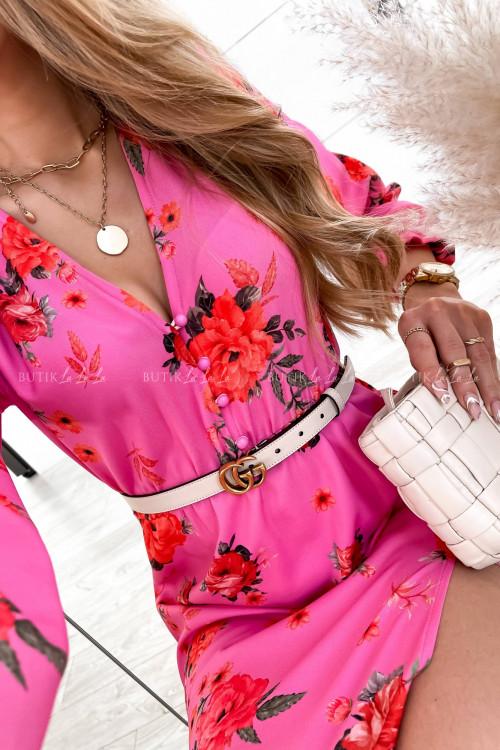sukienka różowa maxi Ross