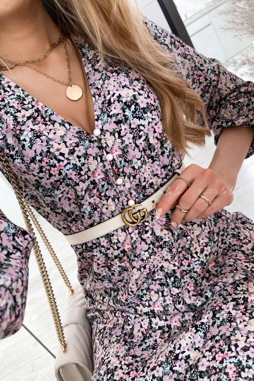 sukienka midi w kwiatowy print Rossi