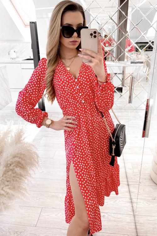 sukienka midi czerwona Wanilia