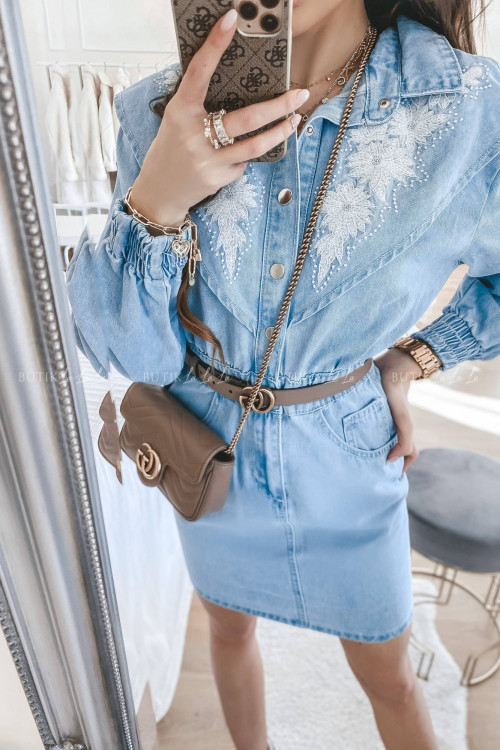 sukienka jeans blue Friston