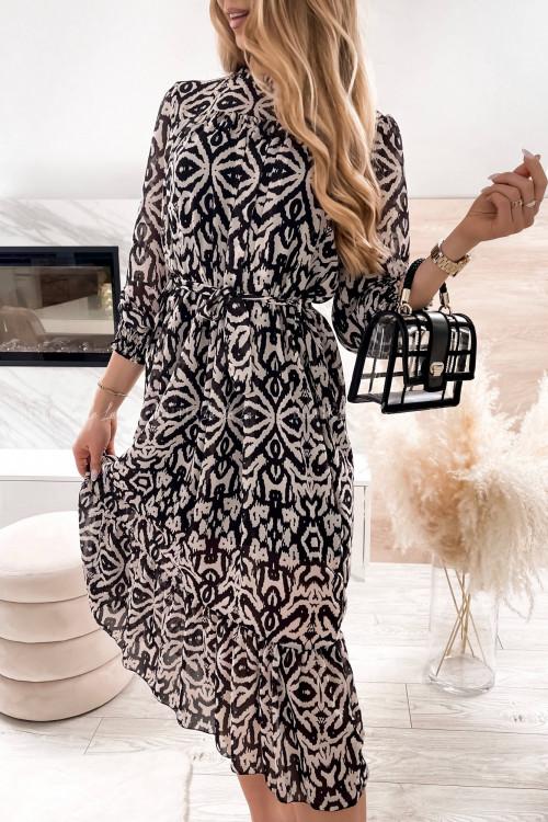 sukienka maxi czarno beżowa April