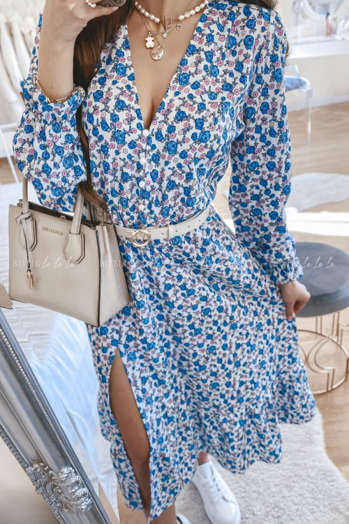 sukienka midi w kwitowy print Venus