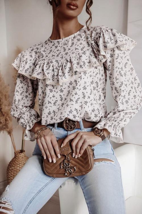 bluzka beżowa z falbanka Gracia