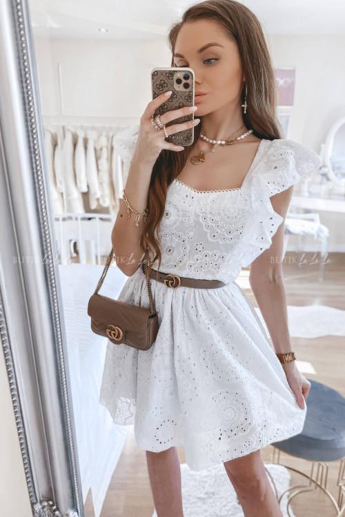 sukienka biała ażurowa Sofia