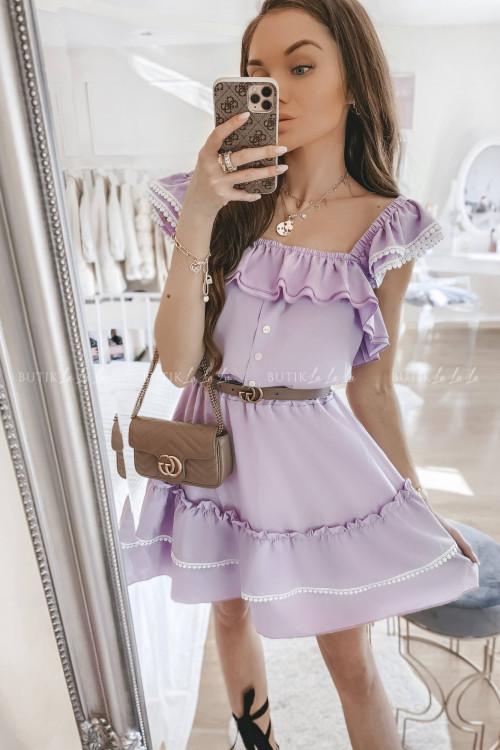 Sukienka hiszpanka liliowa Loe