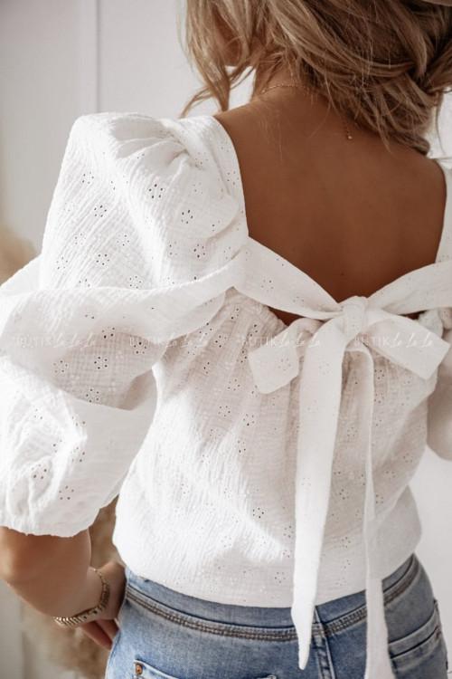 bluzka hiszpanka biała Summer