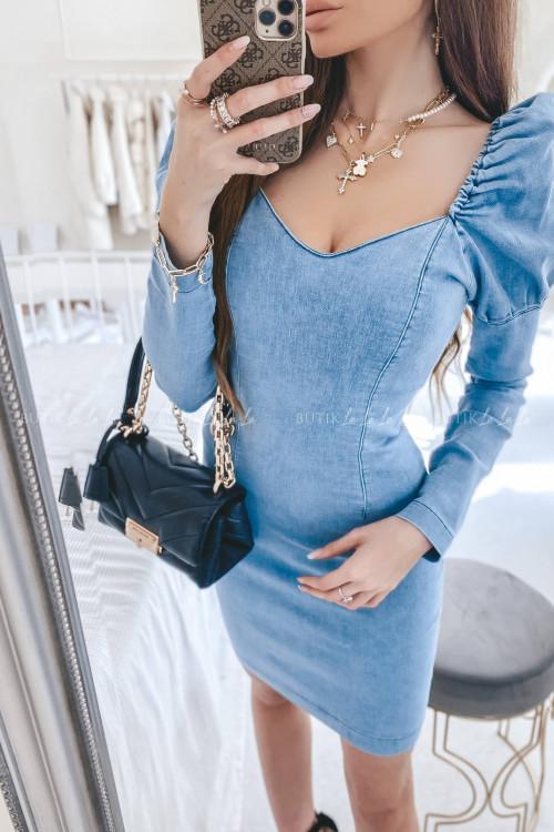sukienka jeans blue Lia