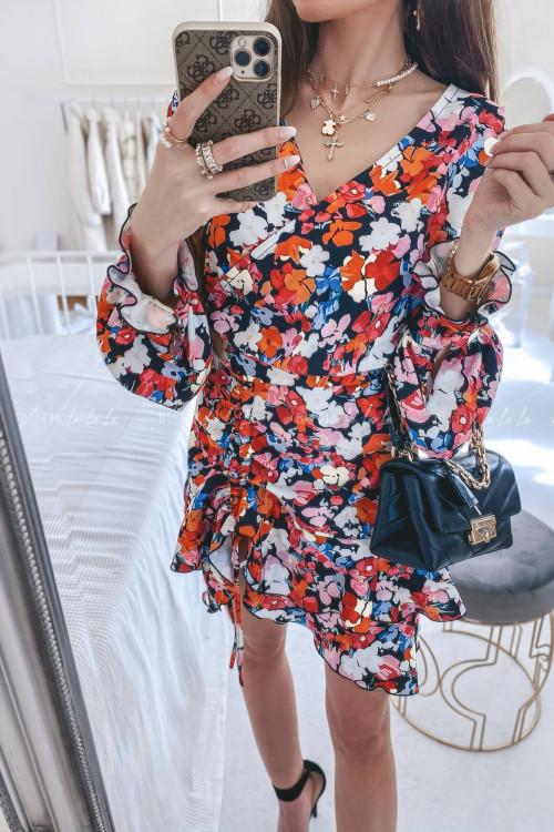 sukienka w kwiatowy print Zoya