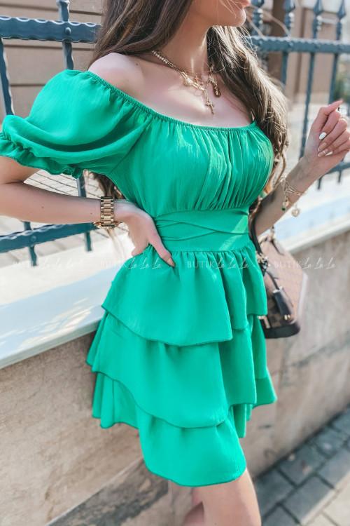 sukienka hiszpanka zielona Calma