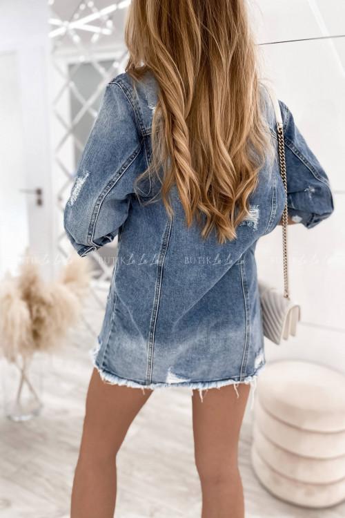 Kurtka jeans blue przedłużana Arletta 1