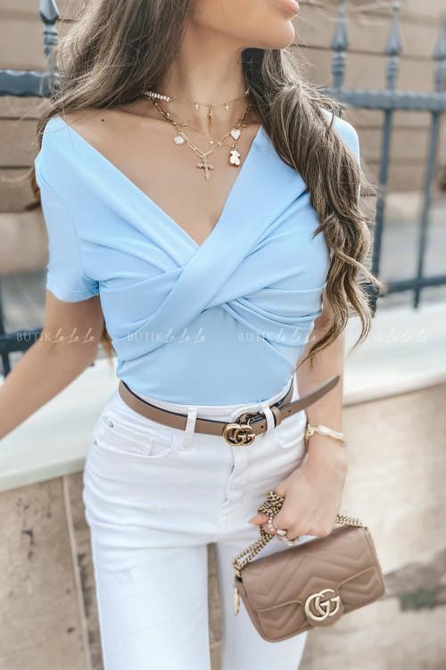 Bluzka niebieska warka