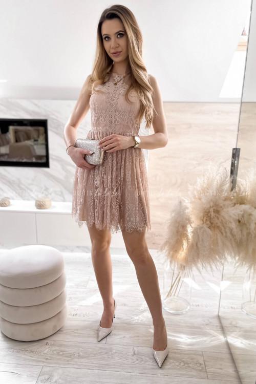 sukienka koronkowa pudrowa Foriana 2