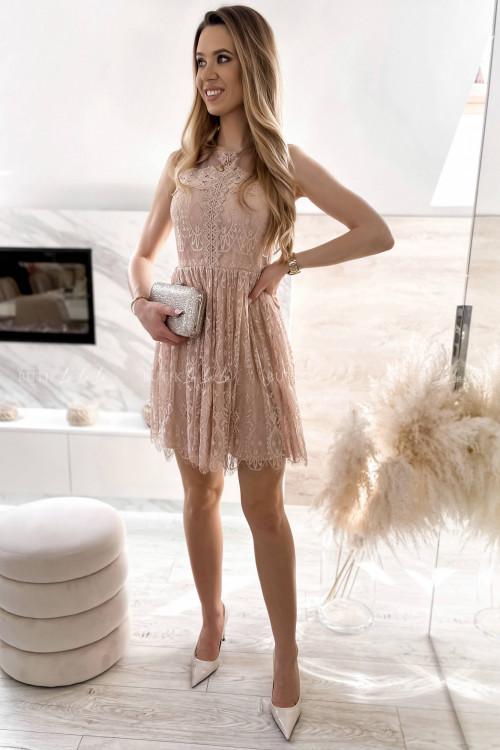 sukienka koronkowa pudrowa Foriana 3
