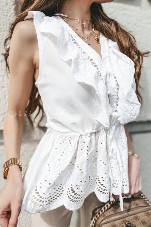 bluzka biała ażurowa Wonti 2