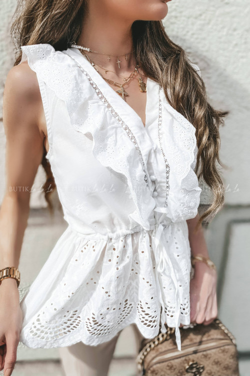 bluzka biała ażurowa Wonti 3