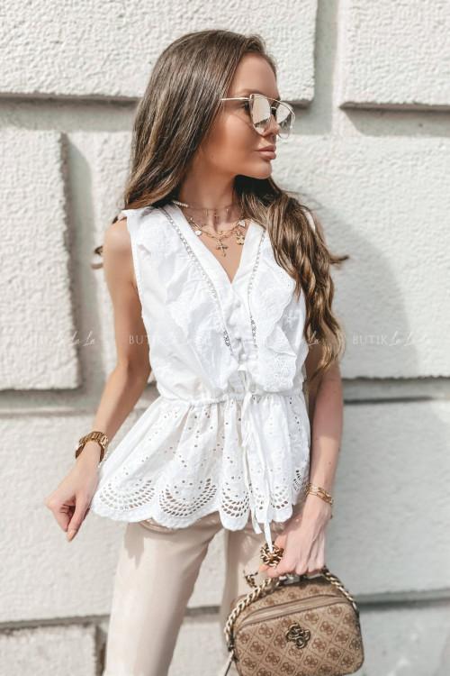 bluzka biała ażurowa Wonti 1