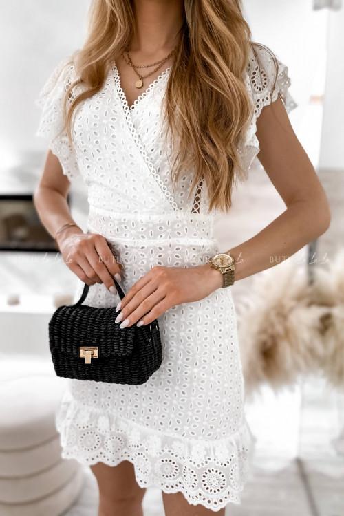 sukienka biała ażurowa Karina