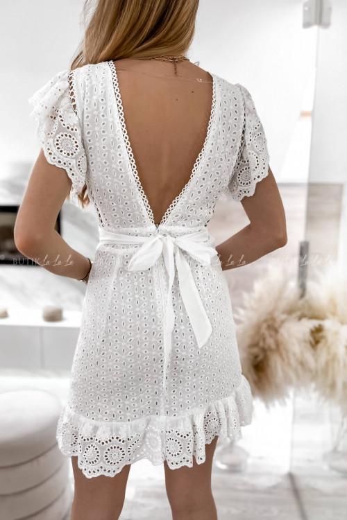 sukienka biała ażurowa Karina 1
