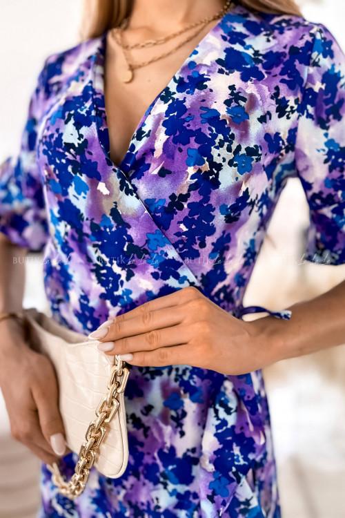 sukienka fioletowa w kwiatki Anti