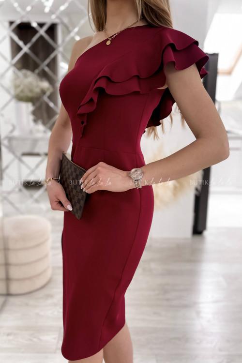 Sukienka Bordowa Lumiana