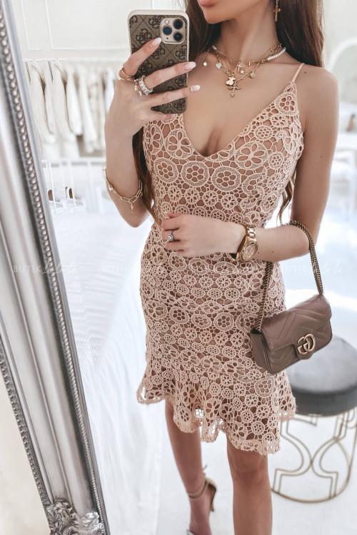 Sukienka Nude na ramiączka Nelia