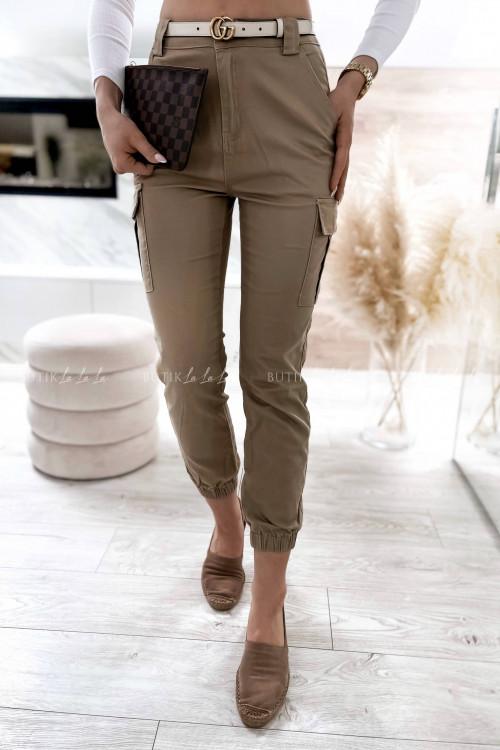 spodnie bojówki beżowe San